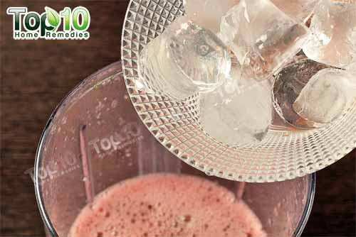 DIY hydrating watermelon smoothie ice