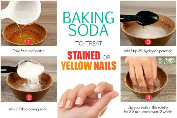 baking soda for stained nails