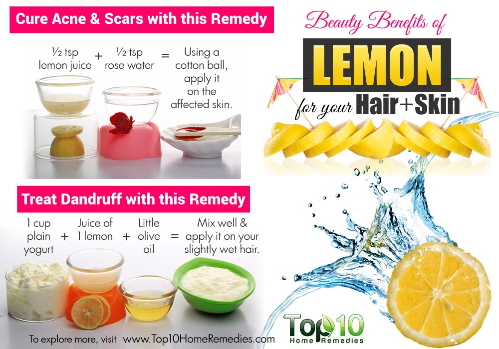 Top 10 Lemon Beauty Benefits For Your Skin And Hair Top
