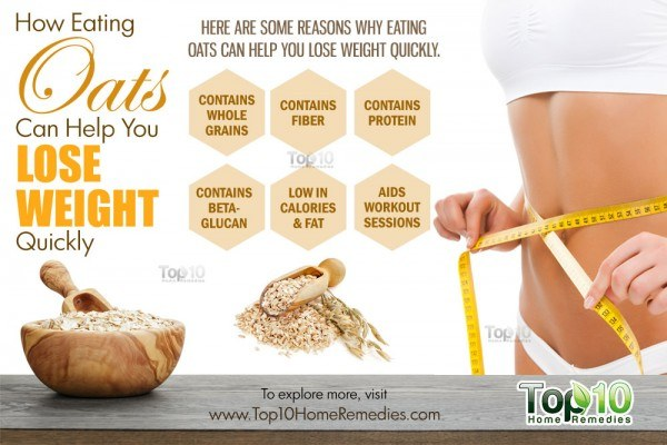 how eating oats can help you lose weight quickly