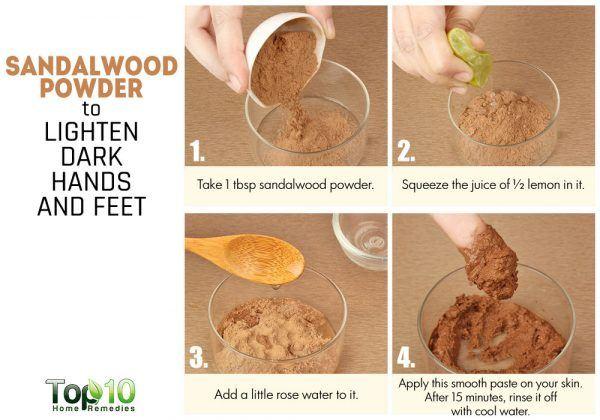 sandalwood to lighten dark hands and feet