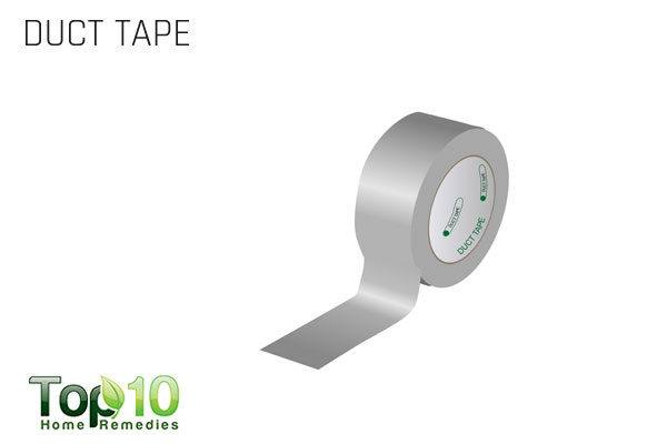 duct tape to remove skin tag on neck