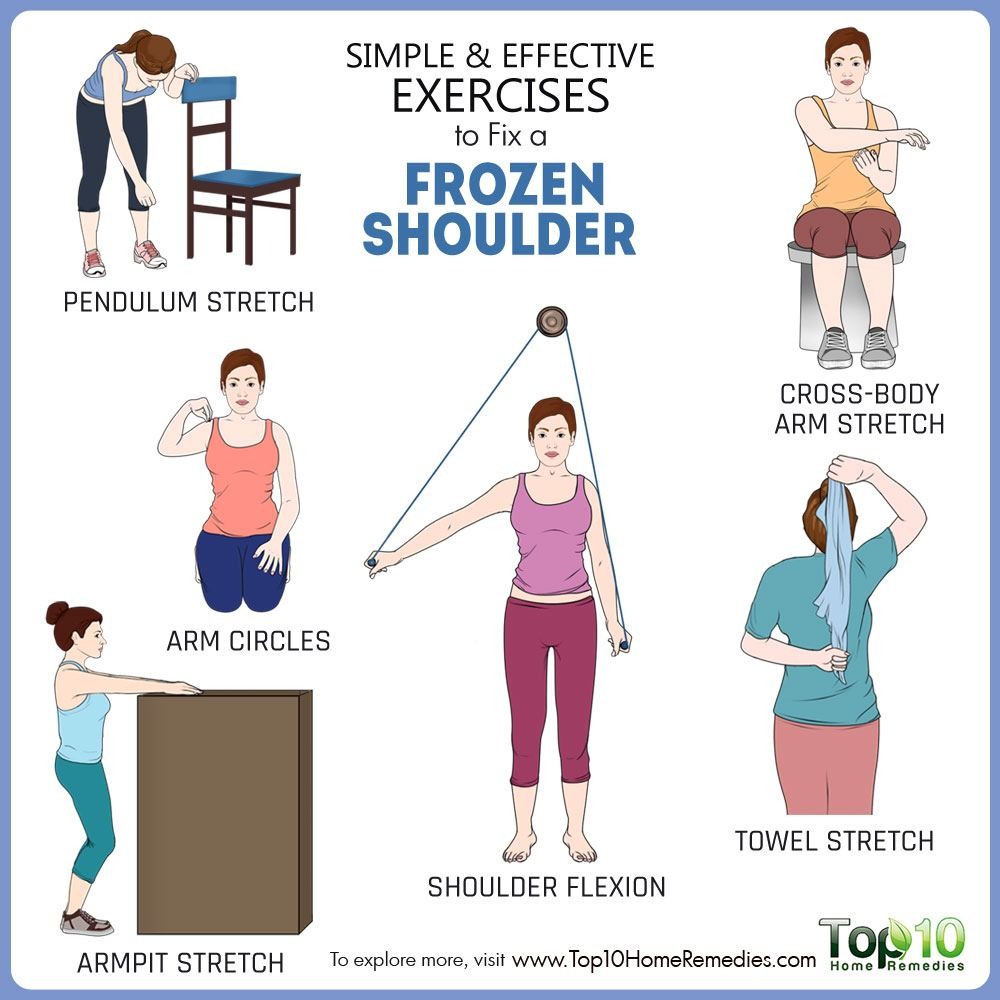 Simple And Effective Exercises To Fix A Frozen Shoulder Healthy Mates Ideas