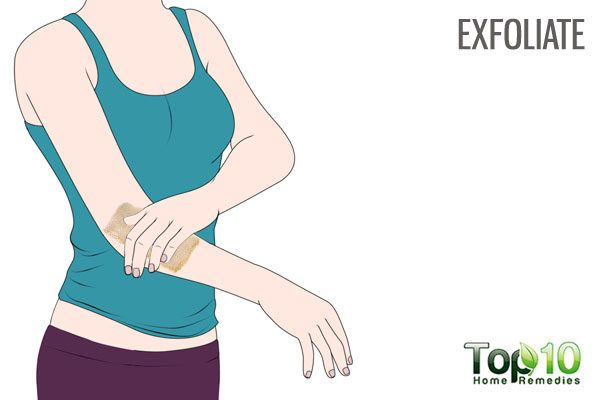 exfoliate your dry scaly elbows