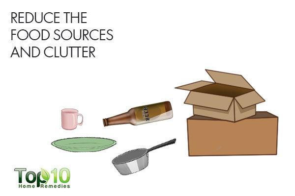 reduce sources of food and clutter to remove silverfish