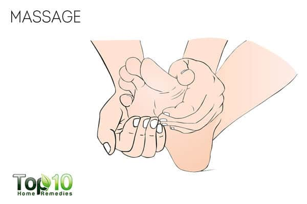 Use massage to treat a sore big toe