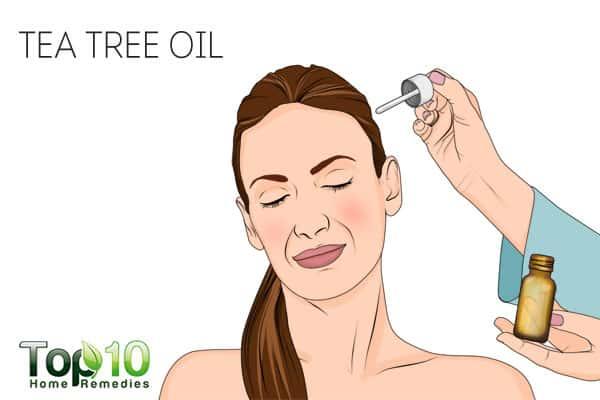 Use tea tree oil to treat scalp sores