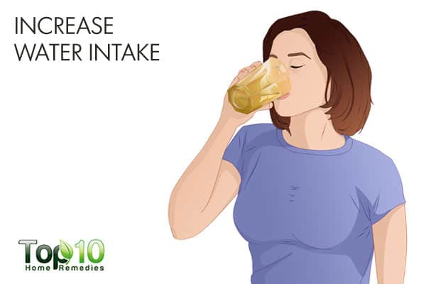 increase water intake for muscle weakness