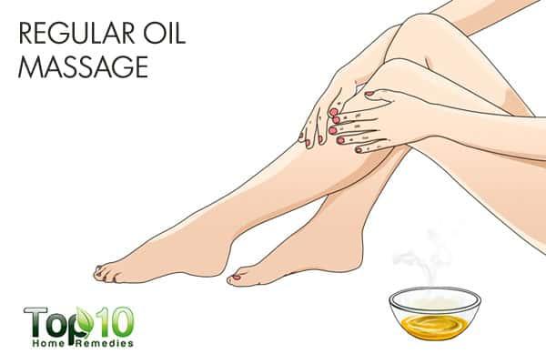 regular oil massage for muscle weakness