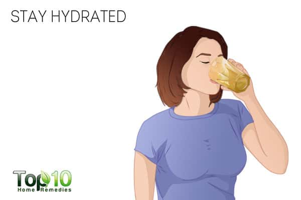 Stay hydrated to get rid of neck fat