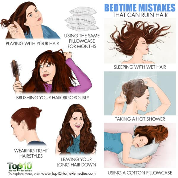 bedtime mistakes that can ruin hair
