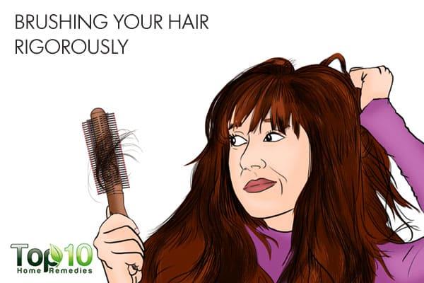 brushing rigorously can ruin your hair