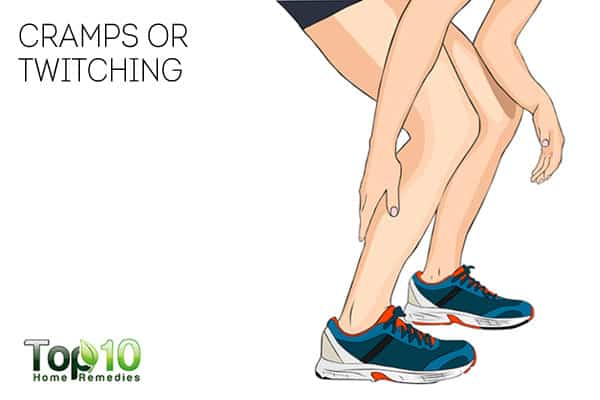 cramps or twitching can be signs of nerve damage