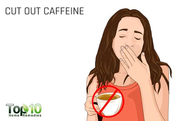 cut out caffeine to beat tiredness and increase energy levels