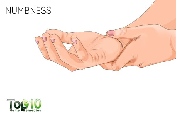 numbness can be a sign of nerve damage