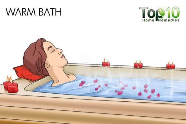 warm water bath to treat diabetic nerve pain