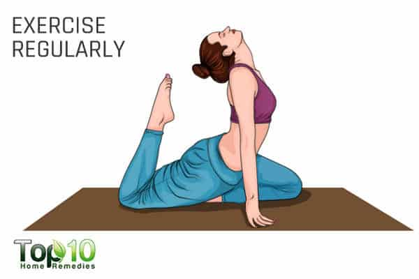 exercise regularly to manage menopausal symptoms