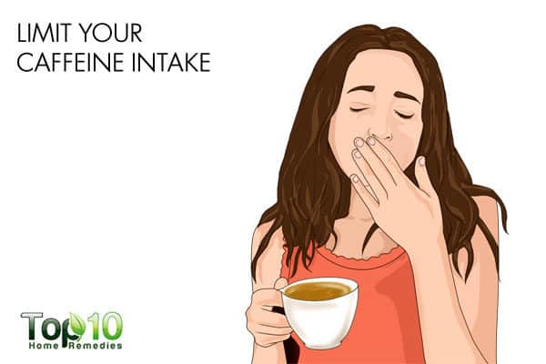 limit coffee intake in night shifts