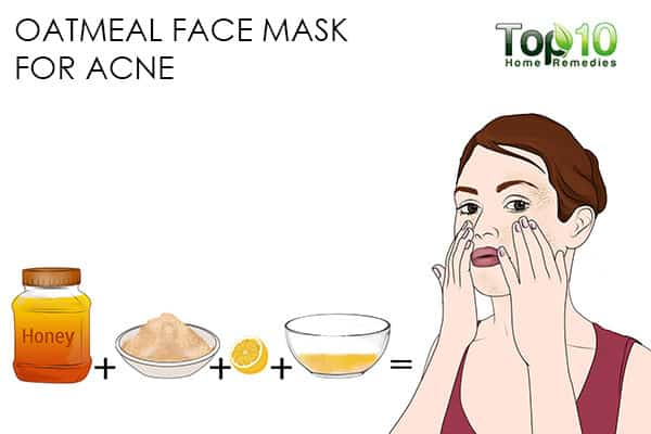acne use oatmeal face mask for skin problems