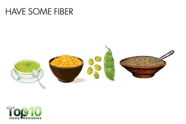 fiber to treat gas during pregnancy