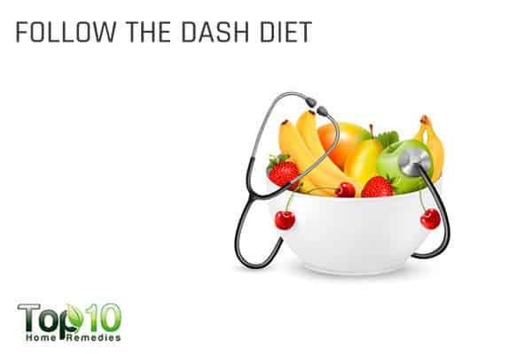 follow the DASH diet to control high blood pressure