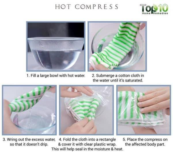 hot compress as painkiller