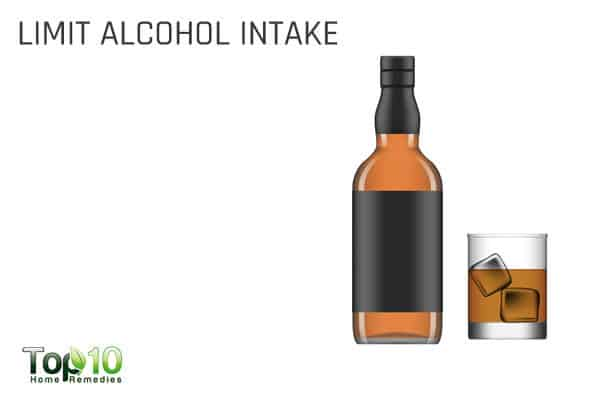 limit alcohol intake to control hypertension