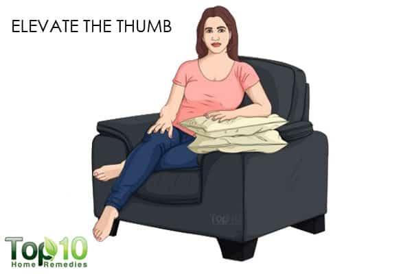 elevate sprained thumb