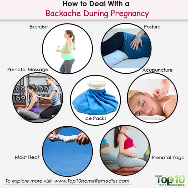 how to deal with backache during pregnancy