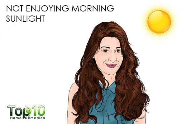 not enjoying morning sun causes weight gain