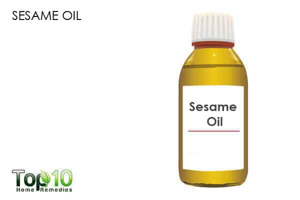 sesame oil for dry nose