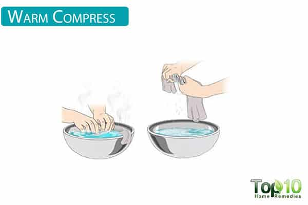 warm compress for ear pain in children