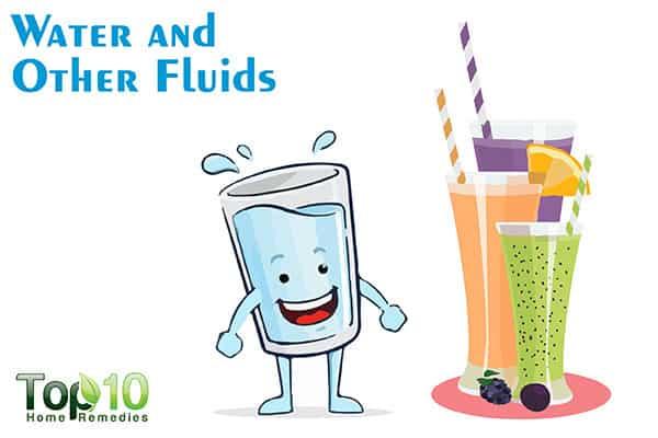 take fluids to control nosebleeds