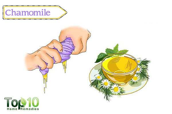 chamomile to reduce eye redness