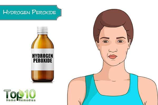 whiten teeth with hydrogen peroxide