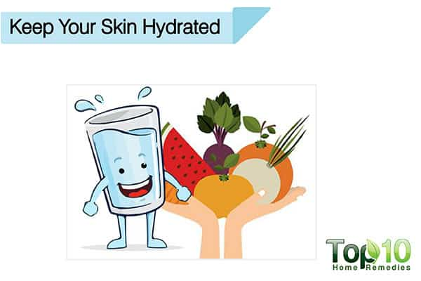 keep your skin hydrated to avoid sun damage