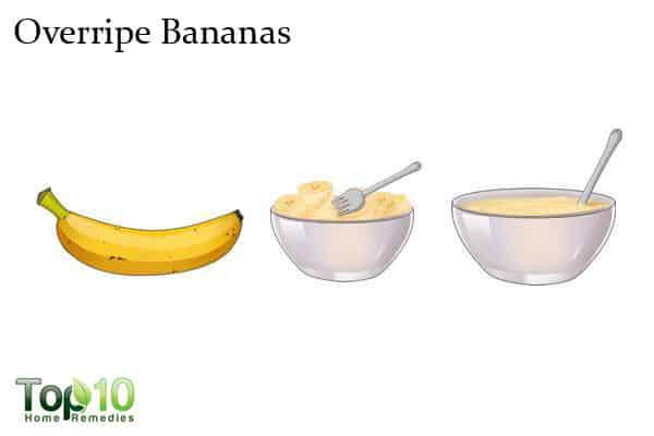 overripe bananas for wrinkles on hands