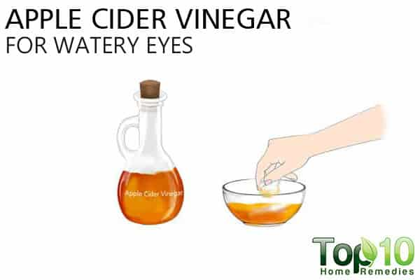 apple cider vinegar to treat watery eyes