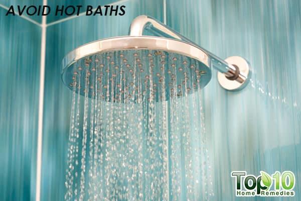 avoid hot baths to control xerosis