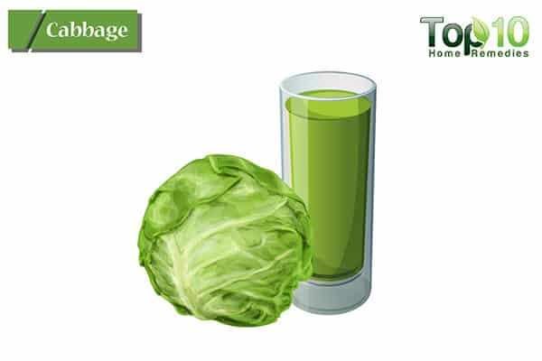 cabbage to treat peptic ulcer