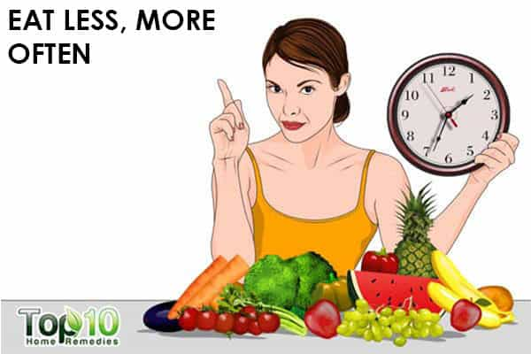 eat less but more often to control pregnancy acidity