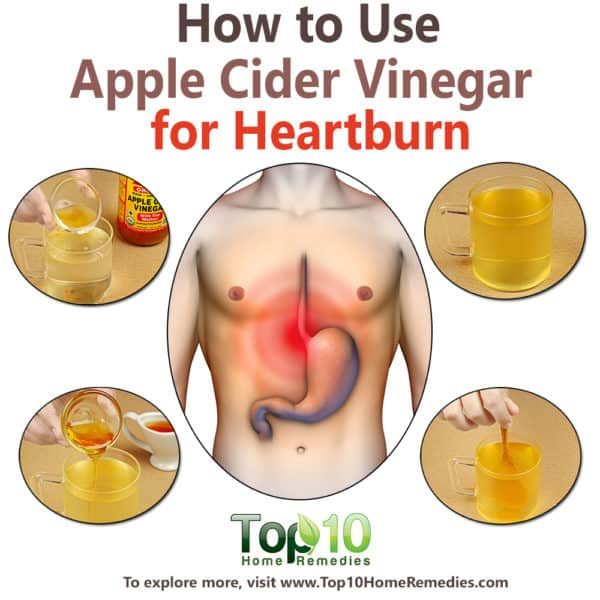 how to use apple cider vinegar for heartburn