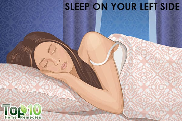 sleep on your left side during pregnancy to avoid acidity