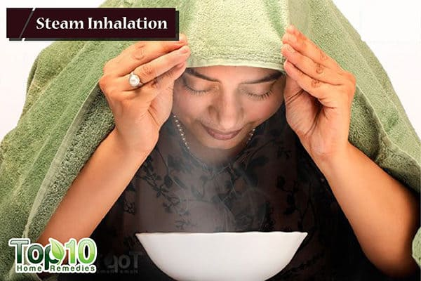 steam inhalation to reduce dry cough