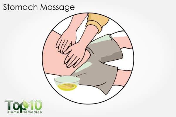 stomach massage for constipation in children