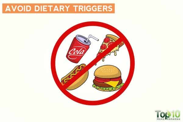 avoid dietary triggers to avoid frequent urination