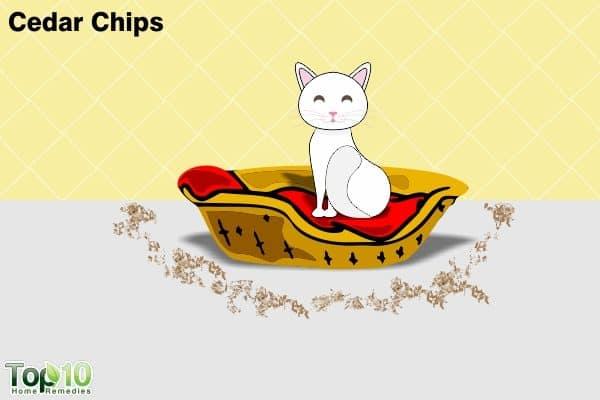 cedar chips to reduce fleas
