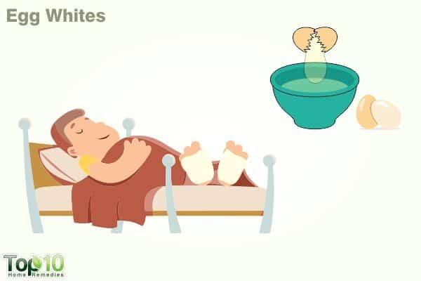 egg whites to reduce fever in child