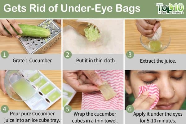 ice cubes for under-eye bags