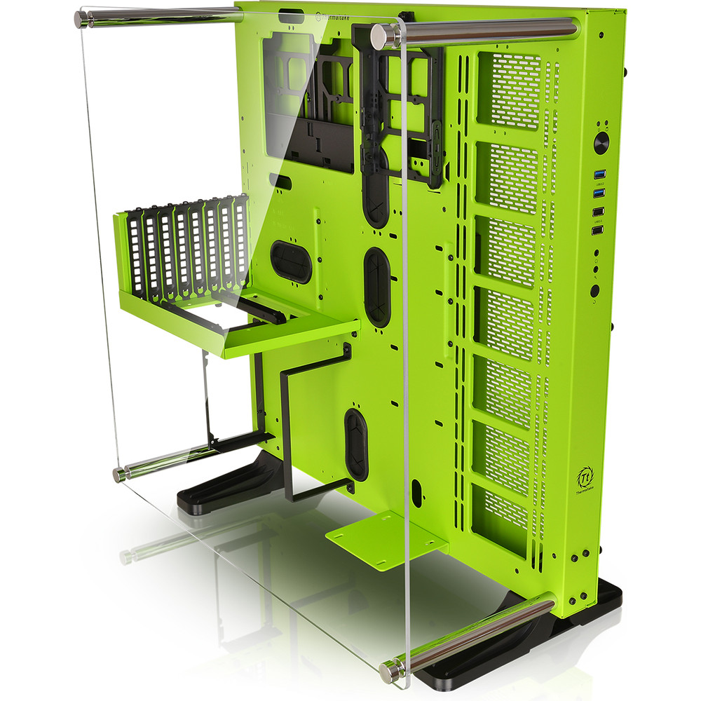 thermaltake core p5 green edition vert